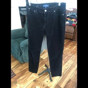 Talbots black signature corduroy pants size 8
